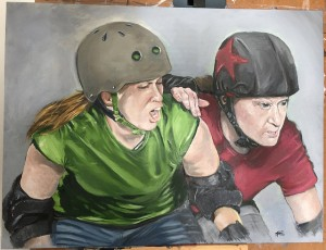 Pulp Derby. 18x24. Oil on canvas board. March 2015